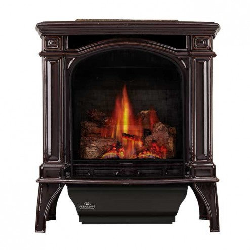 Napoleon Bayfield Direct Vent Cast Iron Gas Stove w/ Safety Barrier