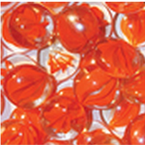 IHP Superior GP43SO 6.0 lb. Bag Smooth Glass Pebbles - Speckled Orange