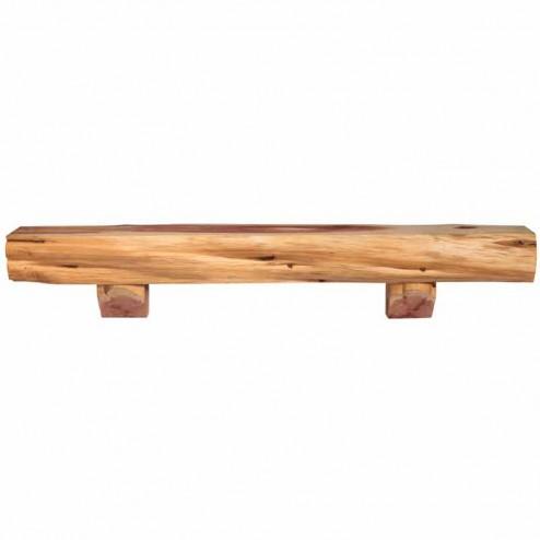 Pearl Mantels Cedar Log Shelf