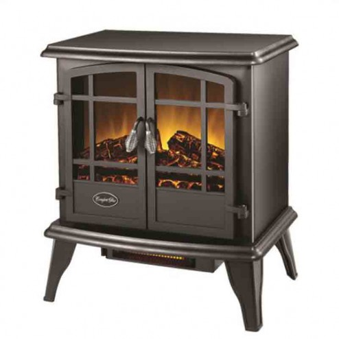 Comfort Glow EQS130  The Keystone Electric Stove  Black w/Quartz
