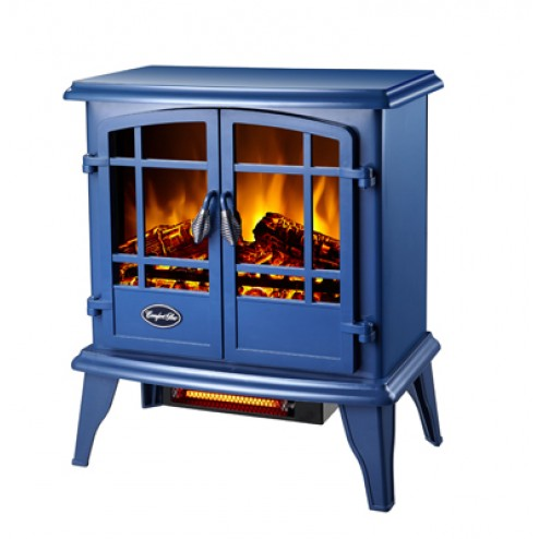 Comfort Glow EQS133  The Keystone Electric Stove  Steel Blue - w/Quartz