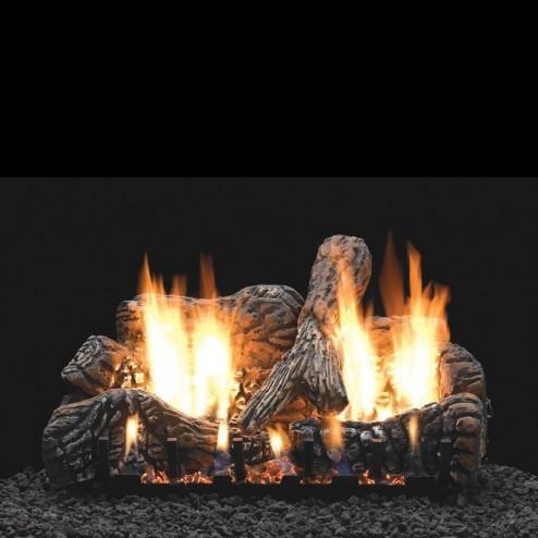 Empire Ls24c2 4 Piece 24 Quot Charred Oak Ceramic Fiber Log Set