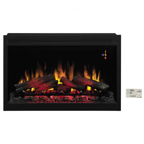 """Classic Flame PRO 36EB220-GRT 36"""" Black Builders Electric Firebox Traditional"""