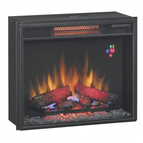 "Classic Flame 23II310GRA 23"" Spectrafi Plus Infrared electric fireplace insert w/Safer Plug"
