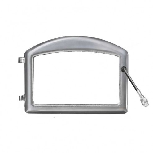 Napoleon H222-SS Cast iron door - standard arch satin chrome plated