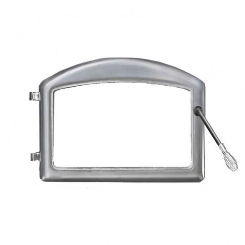 Napoleon H222-SS Cast iron door - standard arch satin chrome plated