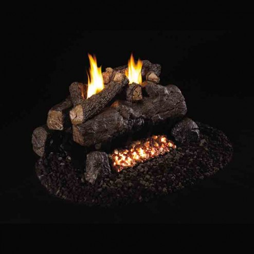 Real Fyre Evening Fyre Charred (ECV) Vent Free See Thru Log set