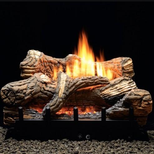 Empire Flint Hill Ceramic Fiber Log Set w/Vent-Free Burner
