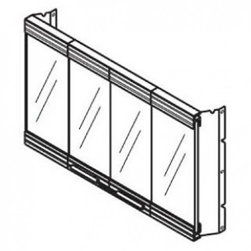Majestic GD54SS Stainless Finish Full Framed Glass Door for SB44
