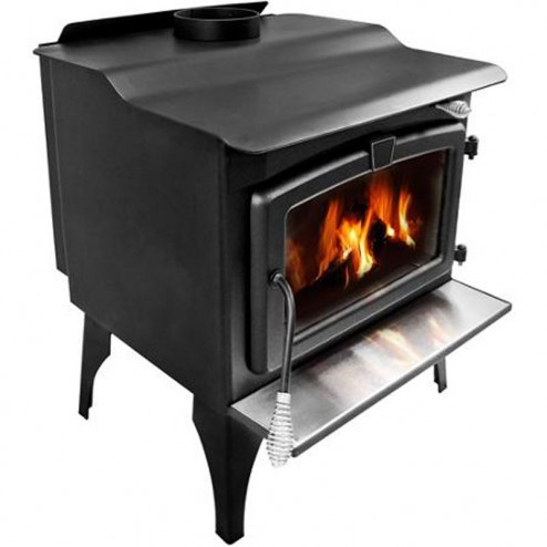 Pleasant Hearth Medium Wood Burning Stove with Legs LWS-127201