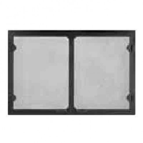 Majestic GV36BK Grand Vista Cabinet Style Mesh Door Black For 36