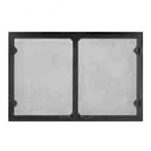 Majestic GV36BK Grand Vista Cabinet Style Mesh Door Black For 36