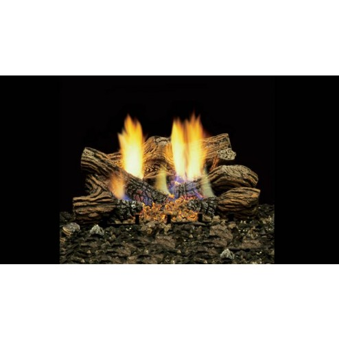 "Majestic BOCL30 30"" Fiber Ceramic 6 pc Blazing Oak Log Set"
