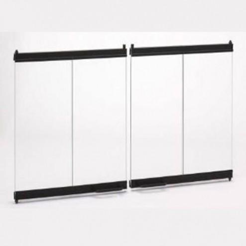 Majestic DM100 Original Bi-fold Glass doors  Black w/ Black Trim SB100