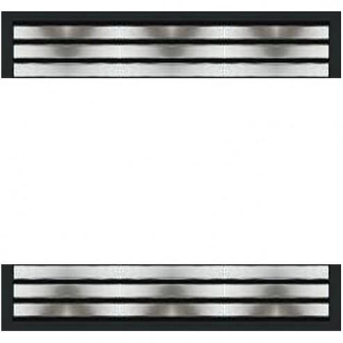 Majestic L42SSM Stainless Steel Louvers fits CDV47/600DVB/600DVM/VF42C/42GCUF