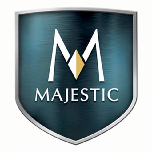 "Majestic GD36BA 36"" Black Finish Bifold Glass Door"