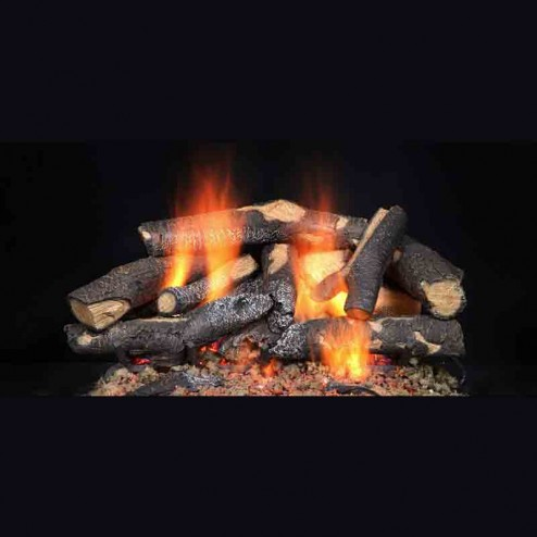 Majestic Fireside Supreme Oak refractory cement log set