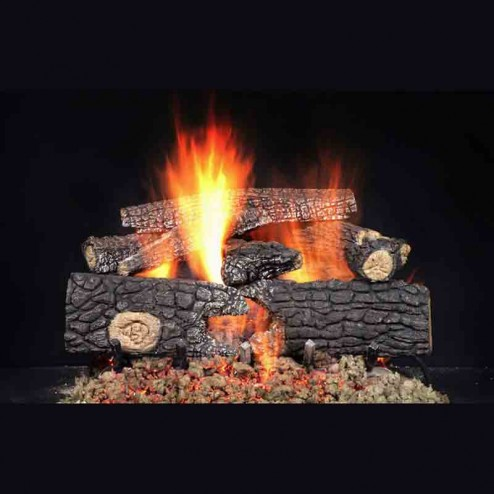 "Majestic 24"" Fireside Realwood refractory cement log set-FRW124"