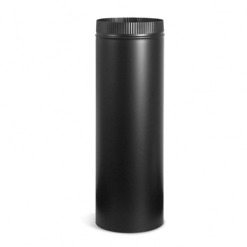"""Malm 8"""" x 30"""" MATTE BLACK Midsection Pipe"""