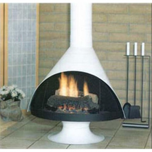 Malm Zircon 34 Inch Wood Burning  Fireplace in Matte Black or Porcelain Colors