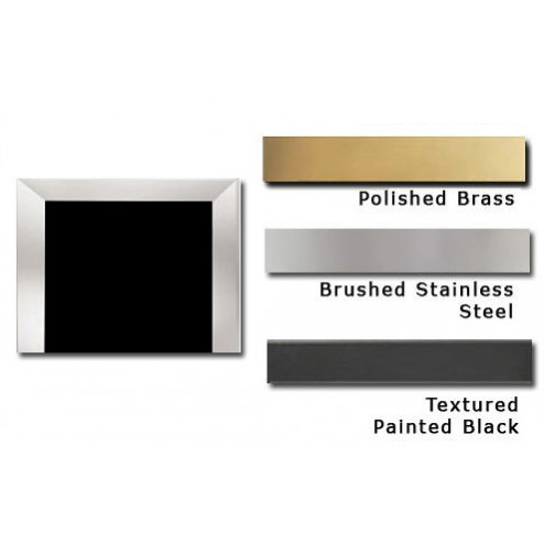 "Napoleon TB336SS Bevelled trim kit - 3"" (covers opening 37"" W x 33"" H) brushed stainless steel finish"