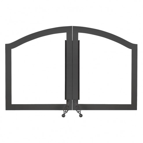 Napoleon H335-K Arched double door painted black