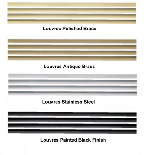 Napoleon L36SS Contour louvre kit, upper and lower brushed stainless steel finish
