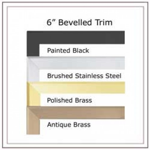 "Napoleon TB636K Bevelled trim kit - 6"" (covers opening 44"" W x 36"" H) textured painted black"