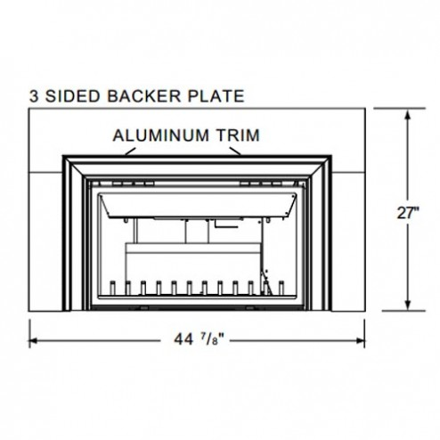 Napoleon GIZBP6-3 Basic 3 sided backer plate