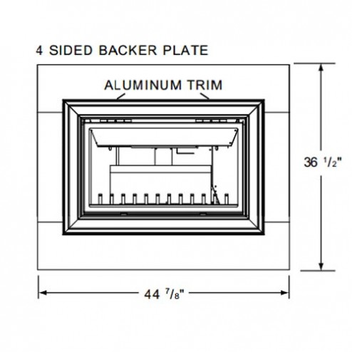 Napoleon GIZBP6-4 Basic 4 sided backer plate