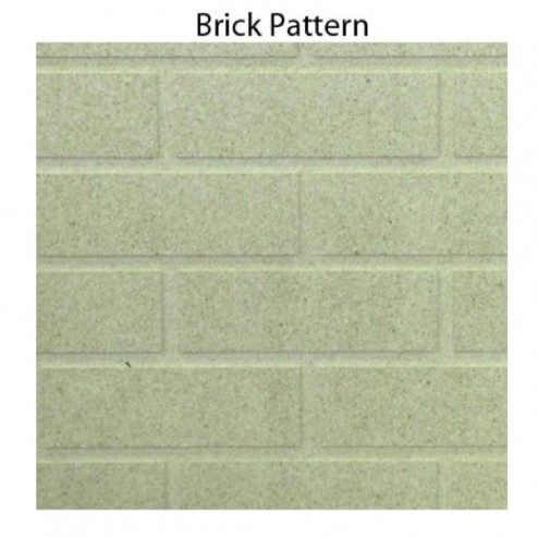 NEX Hearth Panel Board - Brick Pattern