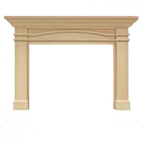 Majestic Portico Flush Mantel, Unfinished Maple-AFPOAUB