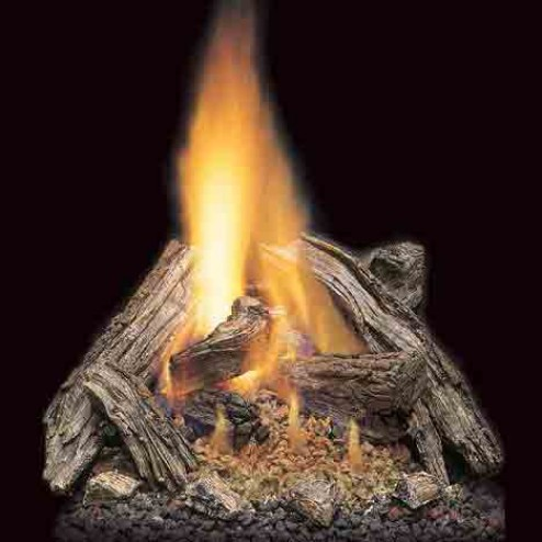 """Majestic VWF24/18SRO 24"""" Split River Oak 7-piece Refractory Log Set with Burned-Out areas"""
