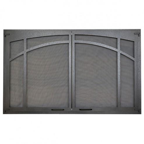 IHP Superior ASD4228-TI Arched Screen Door, Textured Iron