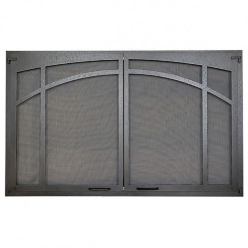 IHP Superior ASD3628-TI Arched Screen Door, Textured Iron