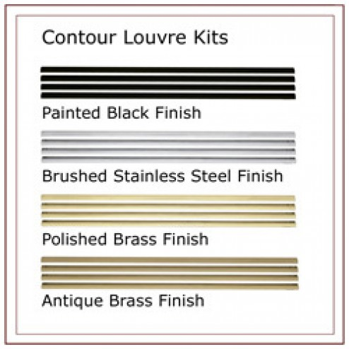 Napoleon L42SS Contour louvre kit brushed stainless steel finish