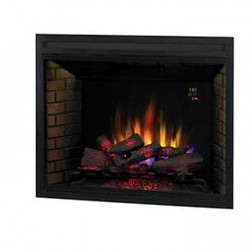 "Classic Flame 39EB500GRA 39"" LED Black Builders Box w/Fixed Glass"