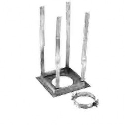 "Duravent 5GVRS 5"" Square Firestop Support"