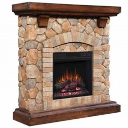 "Classic Flame 18"" Electric Insert &Tequesta Mantel Set"