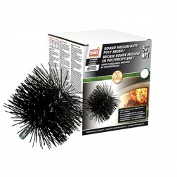 Osburn AC04502 8 in Round Brush With Polypropylene Bristles (3/8 in NPT)