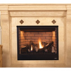 "IHP Superior DRT3535DEN-B 35"" DV NG Fireplace"