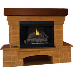 "IHP Superior VRT2036B 36"" Radiant Firebox/Black Interio"