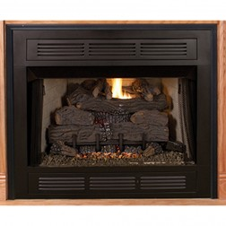 "IHP Superior VCT3036B 36"" Louvered VF Firebox/Black Int"