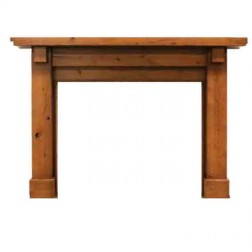 "Majestic Battlefield 53"" Flush Mantel-Unfinished Maple-AFBDAUC"