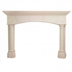 Majestic Biltmore Cast Mantel -In Macchiato Color & Travertine Texture-AFBETC5244MO