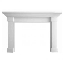 "Majestic Kenwood 46"" Flush Mantel, Primed MDF; 60"" outside width-AFKDMPB60"