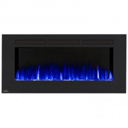 Napoleon NEFL50FH Allure 50 Electric Fireplace, Glass Front, Black