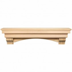 Pearl Mantels The Auburn Shelf Unfinished 495-60