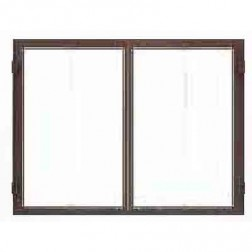 Majestic DFG4042BK  Bi-fold Glass door-  Black