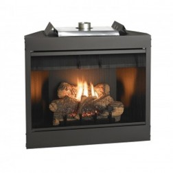 "Empire BVD34FP70FN Keystone Deluxe B-Vent Nat-Gas 34"" IP Fireplace /Flush Face"